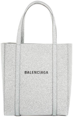 Balenciaga Silver Glitter Leather Xxs Everyday Tote, Never Carried