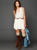 Free People Ethnic Embroidered Waist Dress