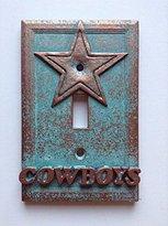 Dallas Cowboys Copper/patina/stone Light Switch Cover (Custom) (Copper/Patina)