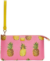 Dolce & Gabbana Pink Pineapple Pouch