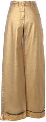 Chanel Gold Denim - Jeans Trousers