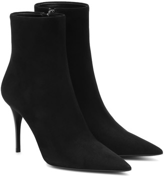 Saint Laurent Lexi 90 suede ankle boots