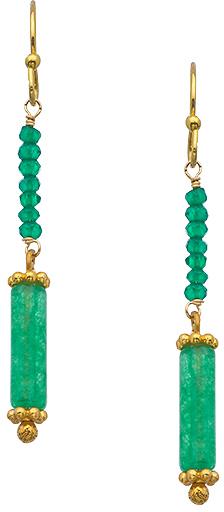 Wendy Mink Green Onyx Roundel Earrings