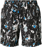 Dolce & Gabbana jazz club print swim shorts - men - Polyester - VI