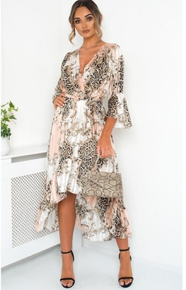 Ikrush Anya Printed Floaty Maxi Dress