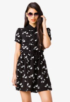 Forever 21 Dove Print Shirtdress