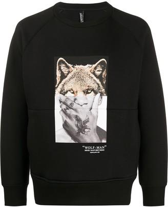 Neil Barrett Wolf-Man print sweatshirt