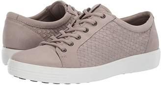 Ecco Soft 7 Plaited Lace-Up (Moon Rock) Men's Shoes