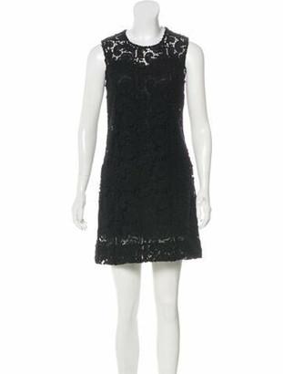 Prada Wool Mini Dress Black