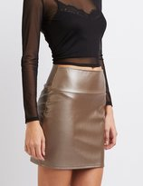 Charlotte Russe Faux Leather Mini Skirt