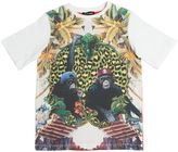 Roberto Cavalli Monkey Printed Cotton Jersey T-Shirt