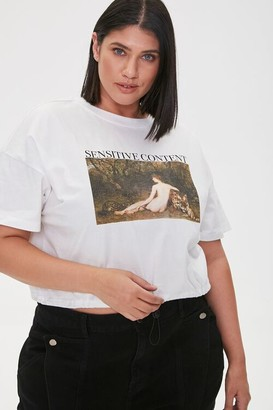 Forever 21 Plus Size Sensitive Content Tee
