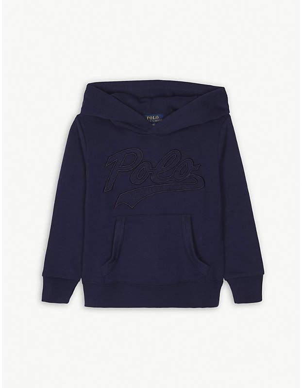 Ralph Lauren Script cotton-blend hoody 2-4 years