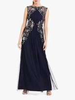 Phase Eight Viviana Embellished Tulle Maxi Dress, Navy/Silver