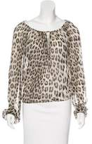 Blumarine Silk Long Sleeve Top