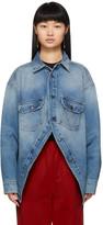 Balenciaga Blue Denim Canadian Swing Shirt