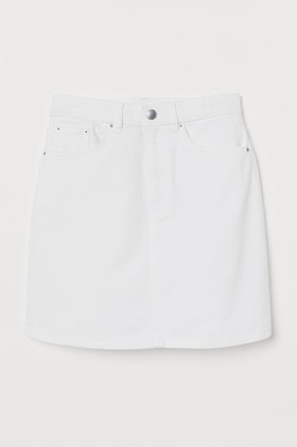 H&M Denim Skirt - White