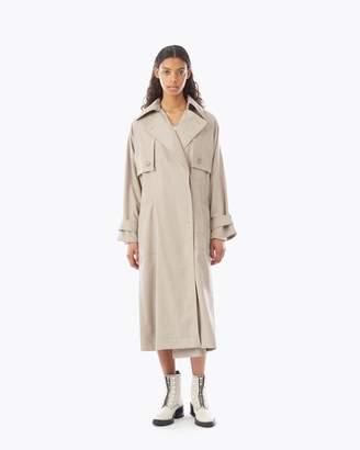 3.1 Phillip Lim Dolman Sleeve Wool Flannel Trench