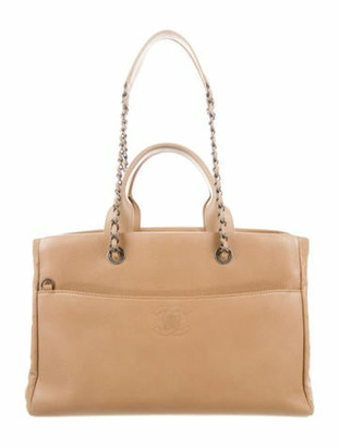 Chanel Coco Break Large Shopping Tote Beige