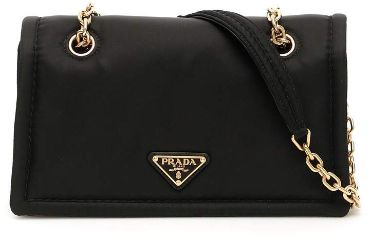 d3400d43a3fc2d Prada Black Chain Strap Shoulder Bags - ShopStyle