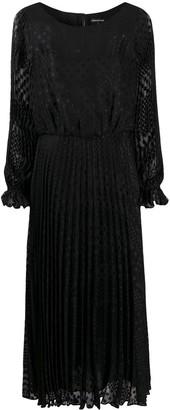 Emporio Armani Pleated Dot Dress