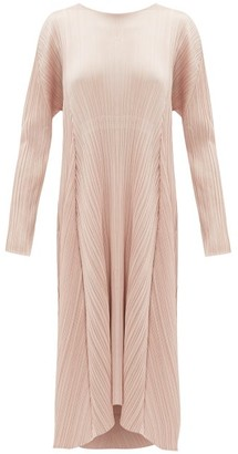 Pleats Please Issey Miyake Drawstring-waist Plisse Midi Dress - Womens - Light Pink