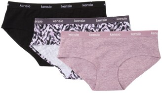 Kensie Assorted Laser Cut Hipster Panties - Pack of 3