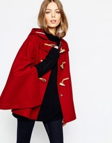 Gloverall Cape in Cranberry