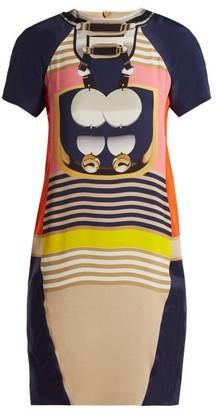 Mary Katrantzou Graphic-print Crepe Mini Dress - Womens - Black Multi