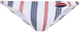 Zoe Karssen Striped Low-rise Bikini Briefs