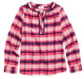 Vineyard Vines Toddler Girl's Plaid Flannel Top