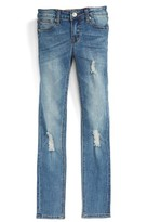 Girl's Hudson Kids Dolly Destroyed Skinny Jeans