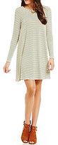 GB Fan Fav Long-Sleeve Striped Swing Dress