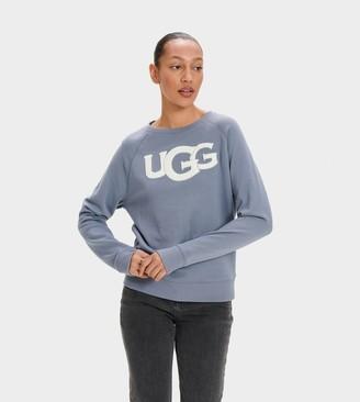 UGG Fuzzy Logo Crewneck Sweatshirt