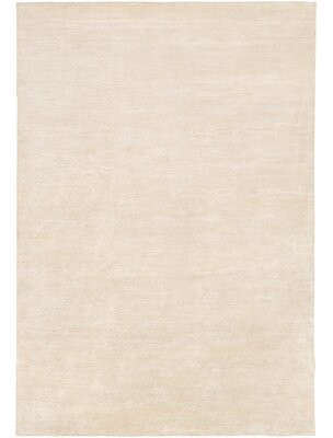 Surya Inessa Solid Hand-Knotted Khaki Area Rug Rug Size: Rectangle 4' x 6'