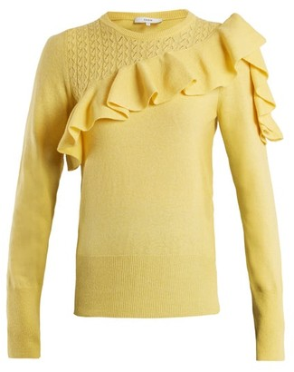 Erdem Dharma Ruffle-trimmed Knit Sweater - Womens - Yellow