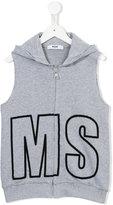 MSGM sleeveless hoodie - kids - Cotton - 8 yrs