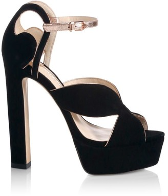 Sophia Webster Rita Metallic Leather & Suede Platform Sandals