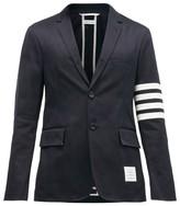 Thom Browne - Striped Single Breasted Cotton Twill Blazer - Mens - Navy