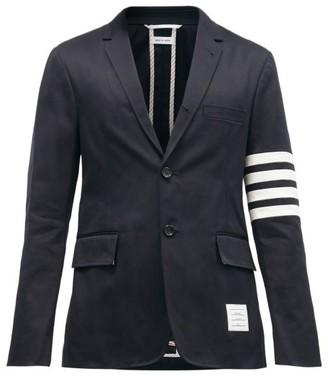 Thom Browne Striped Single-breasted Cotton-twill Blazer - Mens - Navy