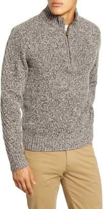 Billy Reid Cashmere Quarter Zip Pullover