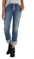 Charlotte Russe Refuge Ankle Skinny Destroyed Cuffed Jeans