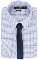 Lauren Ralph Lauren Basket Weave Check Spread Collar Classic Button Down Shirt