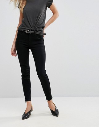 Vero Moda Zip Ankle Skinny Jeans