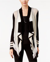 INC International Concepts Colorblocked Waterfall Cardigan, Only at Macy's