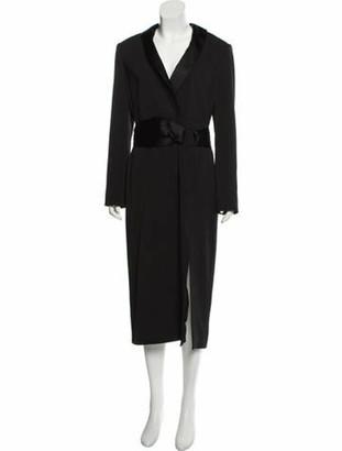Jonathan Simkhai Plunge Neckline Midi Length Dress Black