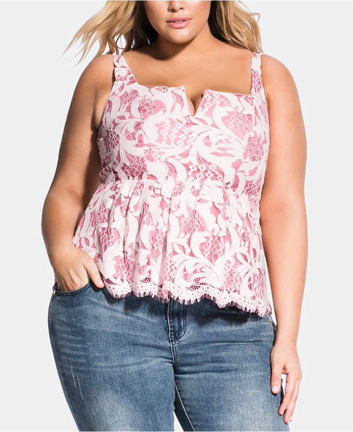 dfd440bbf77 City Chic White Plus Size Tops - ShopStyle