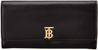 Burberry Halton Monogram Motif Leather Continental Wallet