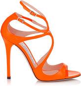 Jimmy Choo LANCE Neon Orange Patent Sandals