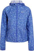 Nike Shield Printed Shell Hooded Jacket - Blue